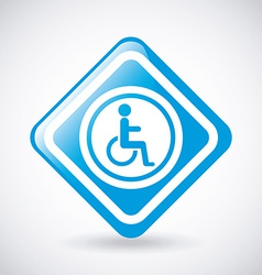 Wheelchair design vector