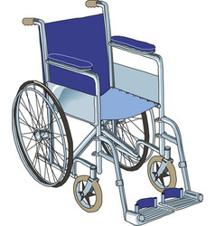 wheelchair in hospital on white vector image