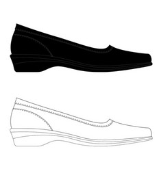 women shoes black and white women shoes isolated vector image