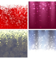 Christmas background set 2 vector image vector image