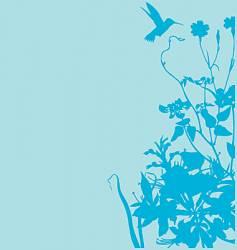 floral garden graphic frame vector image vector image