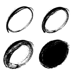 hand drawn ovals vector image vector image