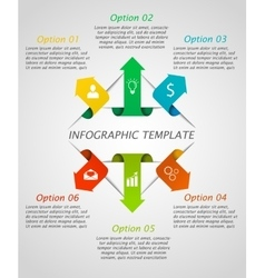 Infographic arrows template vector image vector image