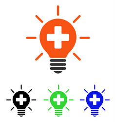 Medical lamp flat icon vector