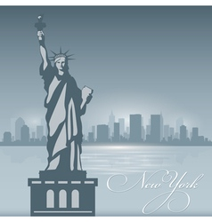 New York skyline city silhouette Background vector image vector image