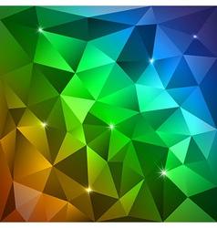 Rainbow Triangles vector image