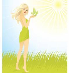 woman sun vector image