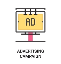 Advertising campaign icon concept vector