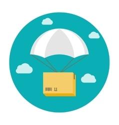 Box on a parachute vector image