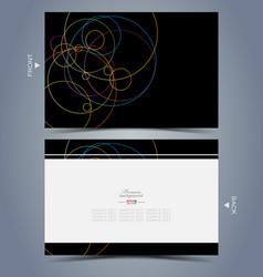 Elegant business card design template vector image vector image