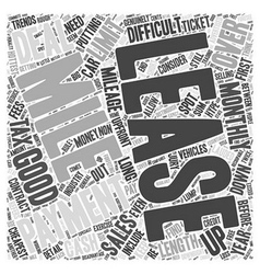 How to spot a good car lease Word Cloud Concept vector image vector image
