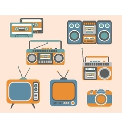 Retro Media Electronics Set vector image