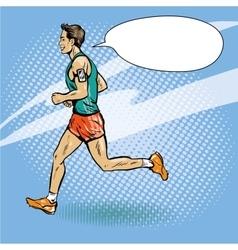 Sportsman running concept in vector