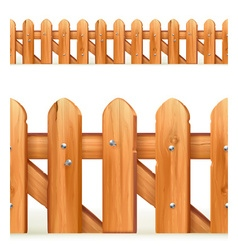 Wooden fence seamless border vector image