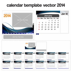 Desk calendar template 2014 vector image