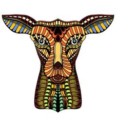 doodle ornate deer vector image vector image