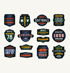 Set of emblems and patches in sport style vector