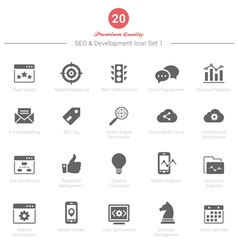 Set of SEO and Development icons Set 1 vector image vector image