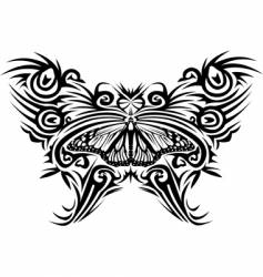 tattoo butterfly vector image