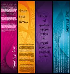 vertical-banners vector image vector image