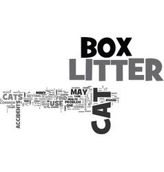 whattodoaboutlitterboxaccidents text word cloud vector image vector image