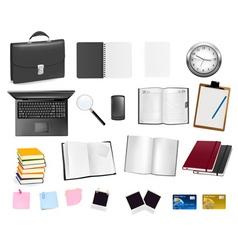 big set of business elements vector image