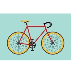 bike bikes isolated with red and yellow color vector image