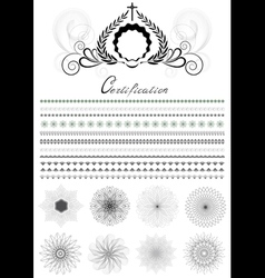Brushes and patterns in original style vector image vector image