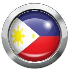 Philippine flag metal button vector image vector image