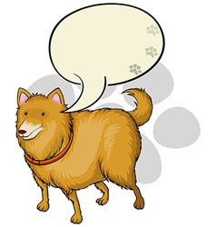A dog with an empty callout template vector