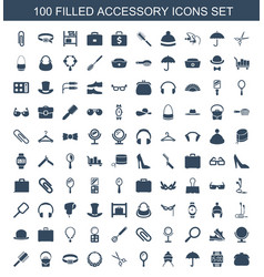 Accessory icons vector