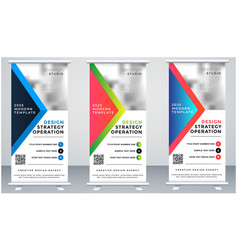 advertising trend business roll up banner vector image