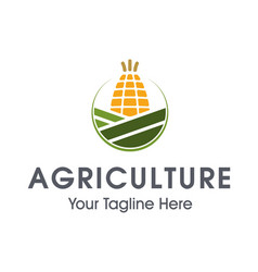 agriculture logo design vector image