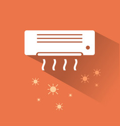 air conditioner heating icon vector image