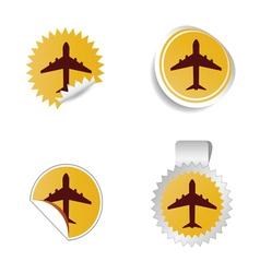 airplane sticker vector image