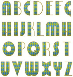 Alphabet checkered letters vector