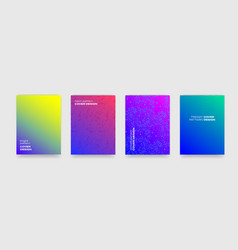backgrounds with geometric and color gradient vector image