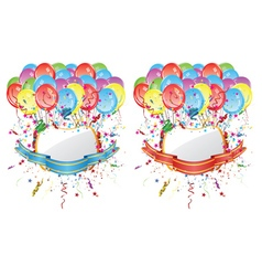 Balloons with Banners3 vector image