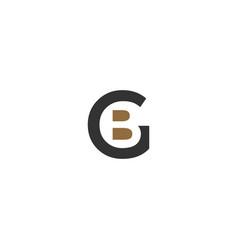 Bg combine logo template vector