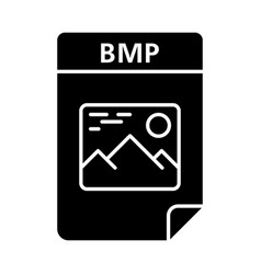 Bmp file glyph icon bitmap image raster graphics vector