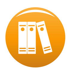 Book lawyer icon orange vector