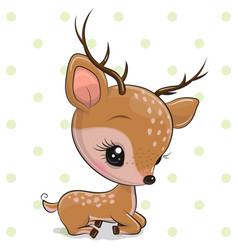Cartoon deer isolated on a white background vector