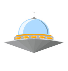 cartoon ufo isolated on white background vector image
