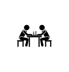 chess player icon vector image