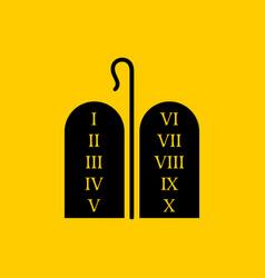 Christian symbols tablets covenant vector