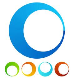 circular round design elements preloader buffers vector image