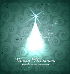 Creative christmas tree design vector