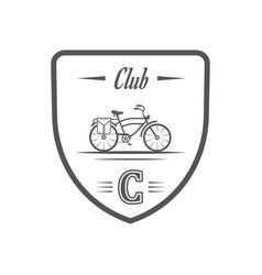 Cycling club logotype vector