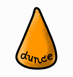 dunce hat doodle icon cartoon hand-drawn style vector image