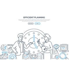 efficient planning - modern line design style vector image